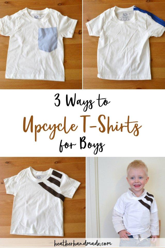 upcycle t-shirts boys