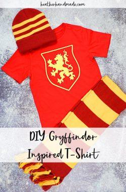 DIY Gryffindor Inspired T-Shirts