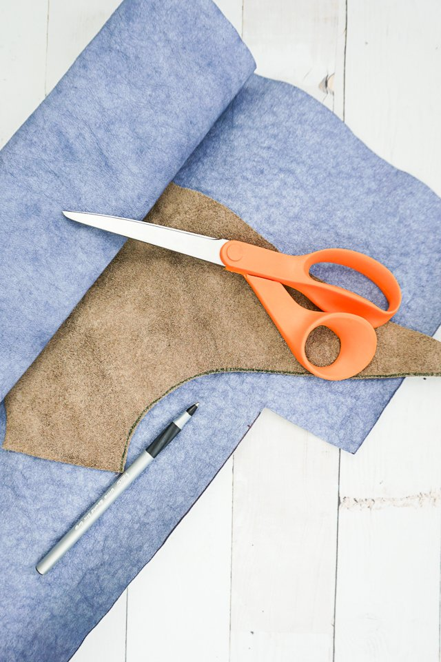 how to cut leather vs kraft-tex