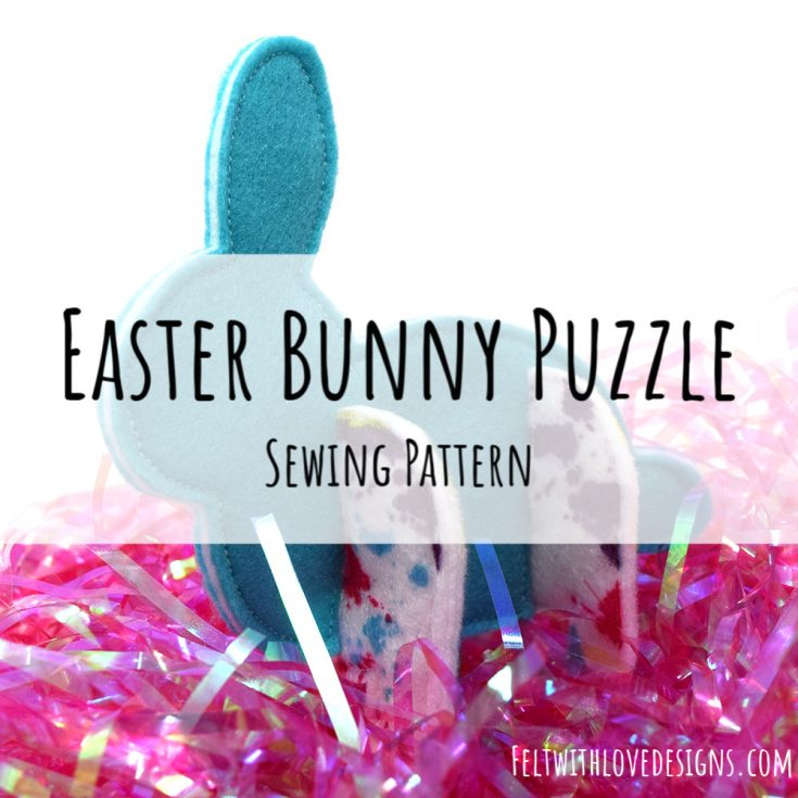 Felt Easter Bunny Puzzle Animal Pattern
