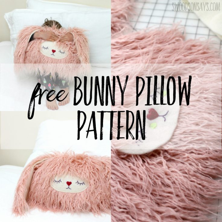 Free bunny pillow sewing pattern