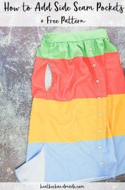How to Add Side Seam Pockets + Free Pattern