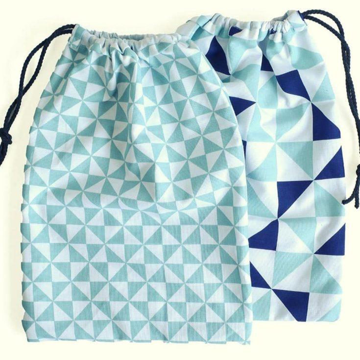 Make a drawstring bag from a Tea Towel