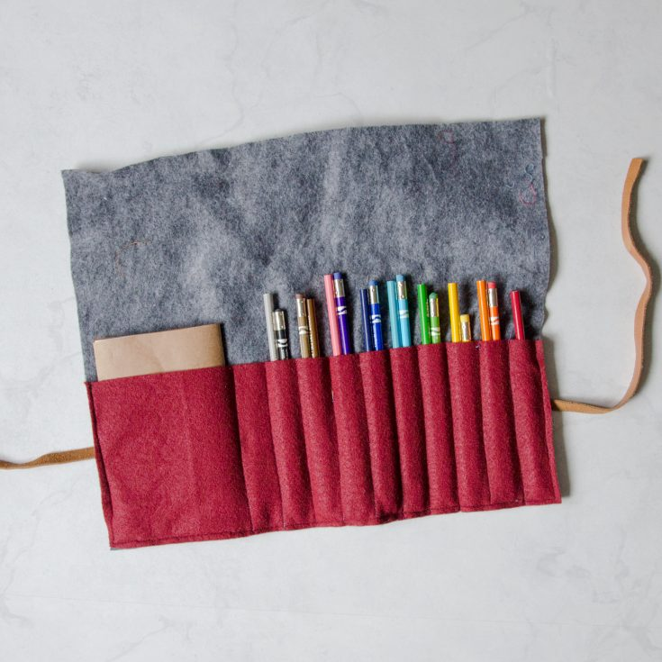 How to Make a Felt Pencil Case Easy Sewing tutorial