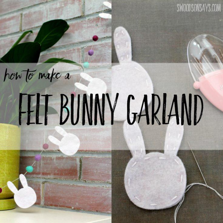 Felt Bunny Bunting with the Cricut Maker
