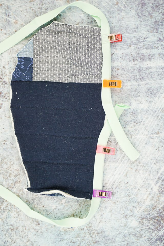 how to finish bias tape