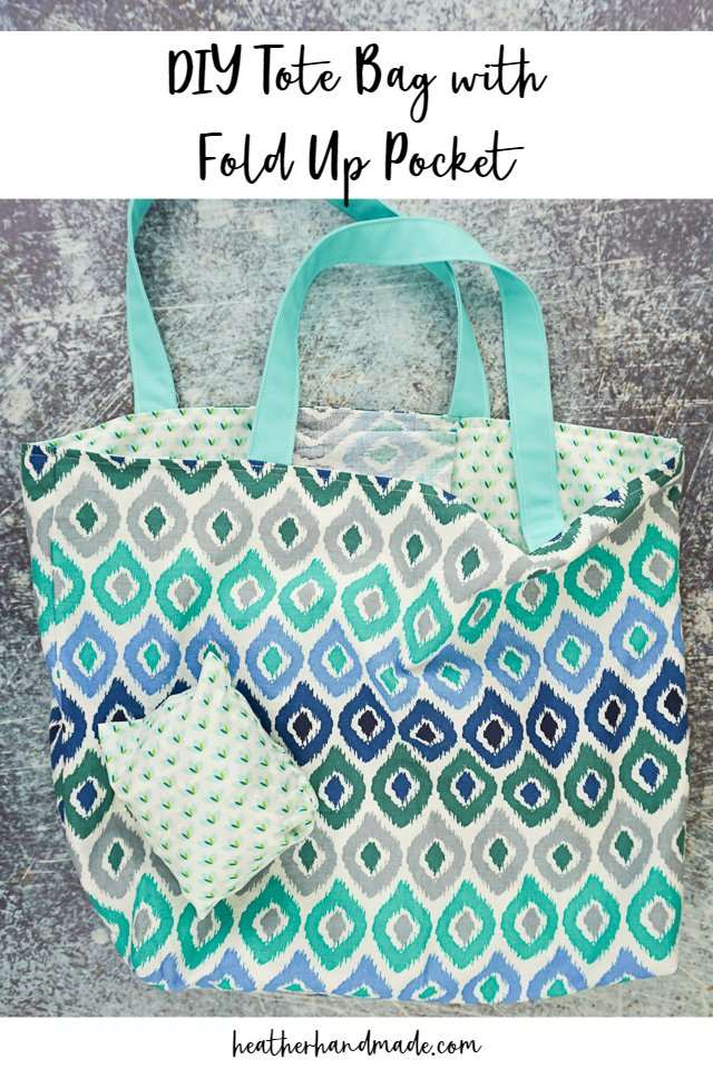 DIY Tote Bag with Fold Up Pocket
