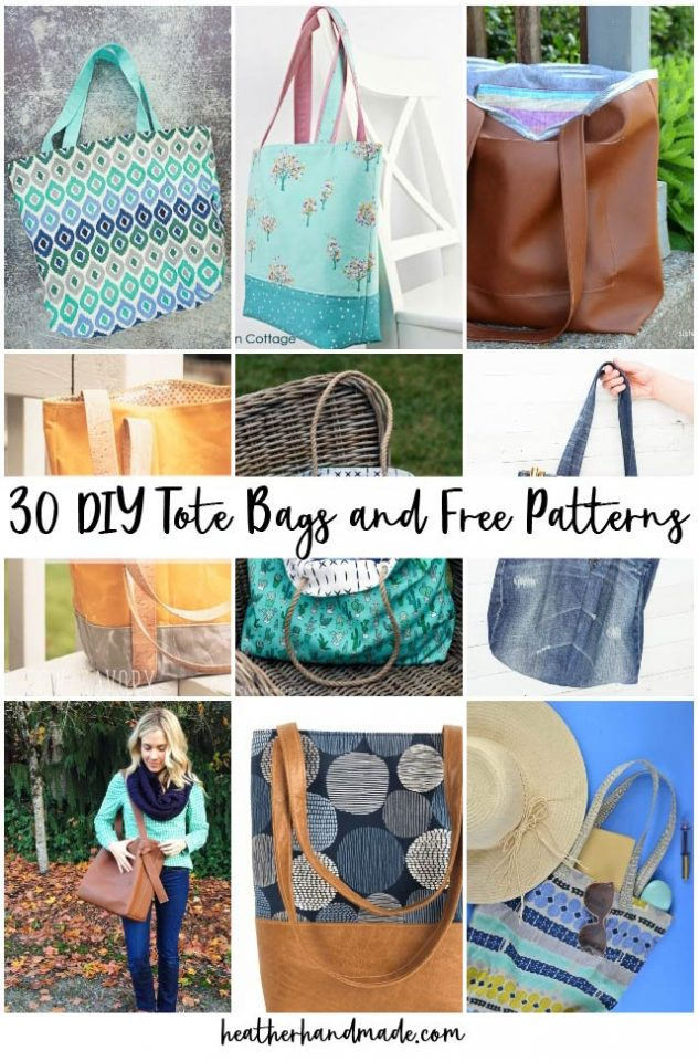 diy tote bags and free patterns