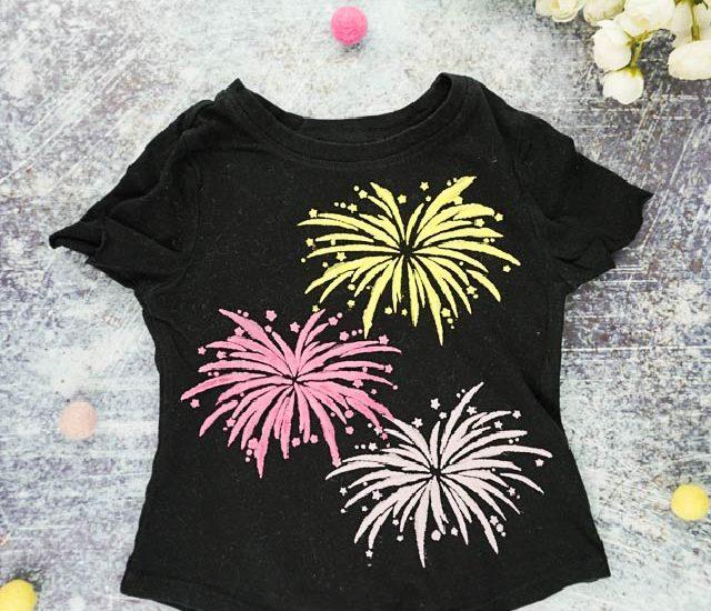 diy firework t-shirt