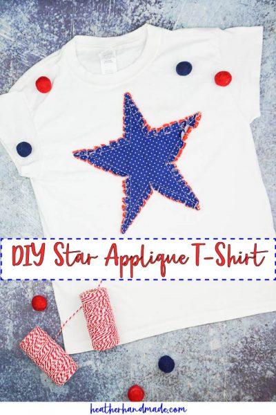 DIY Star Applique T-Shirt