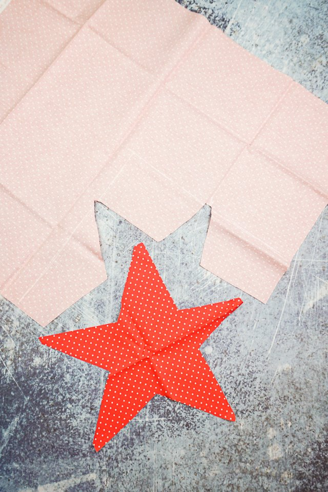 cut out large red star