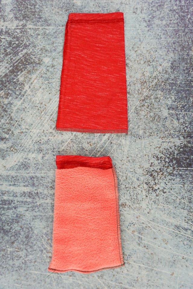 sew bottom of three tubes