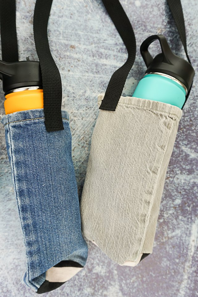upcycle diy water bottle holder
