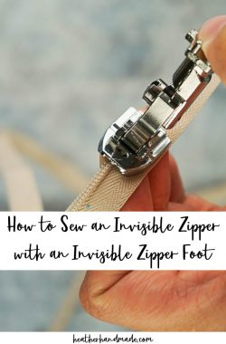 How to Sew an Invisible Zipper with an Invisible Zipper Foot