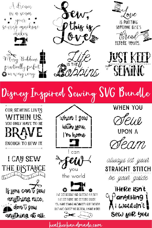 disney sewing svg bundle