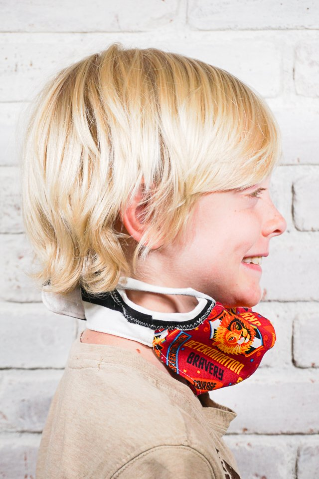 diy kid face mask free sewing pattern