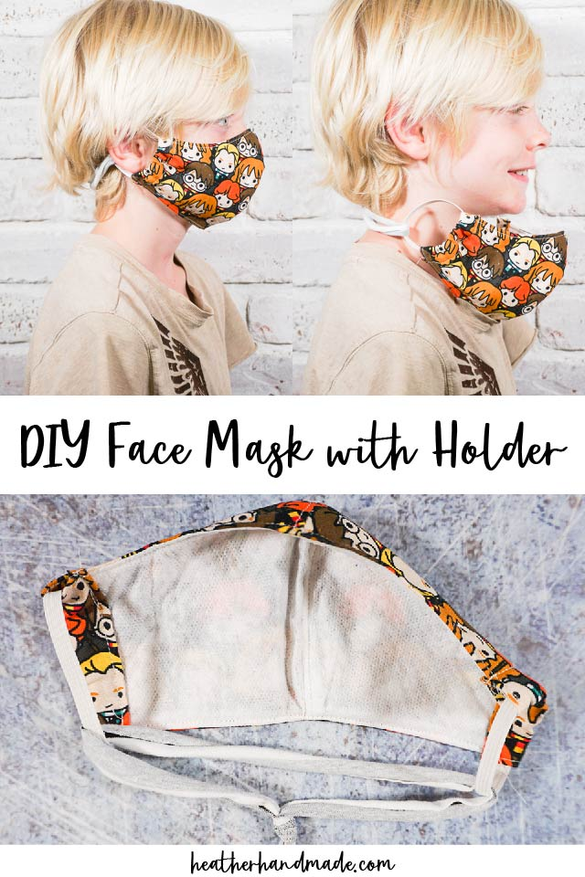 DIY Face Mask with a Holder