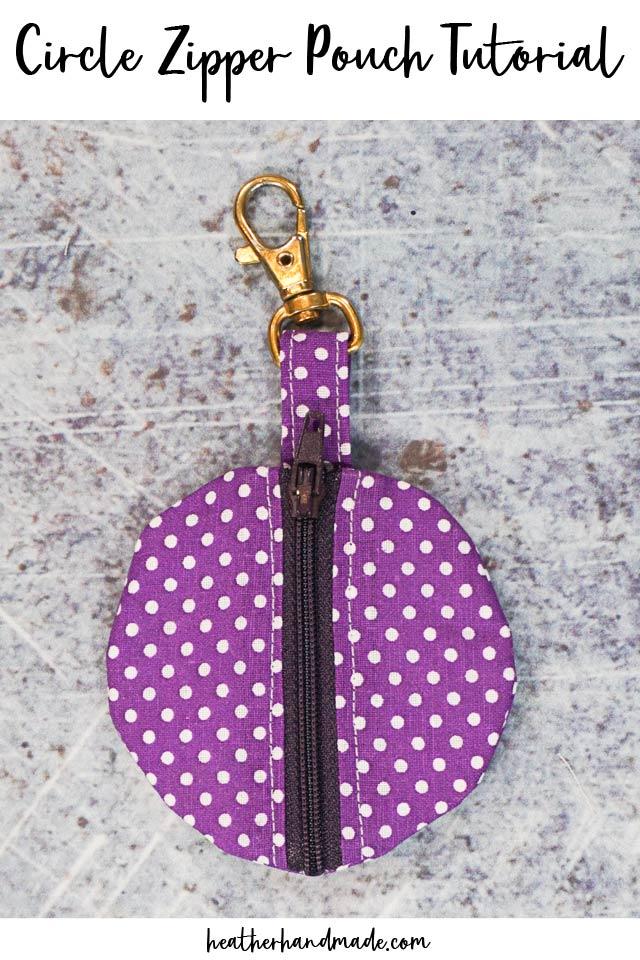 Small Zipper Pouch Tutorial
