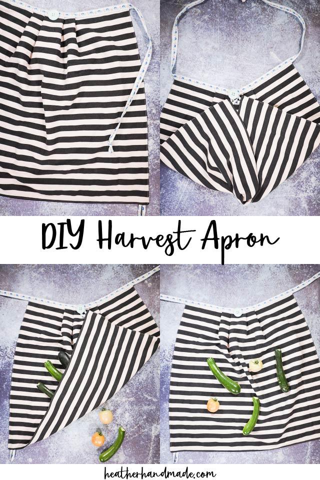 easy diy harvest apron