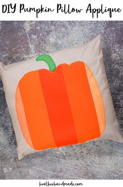 DIY Pumpkin Pillow Applique