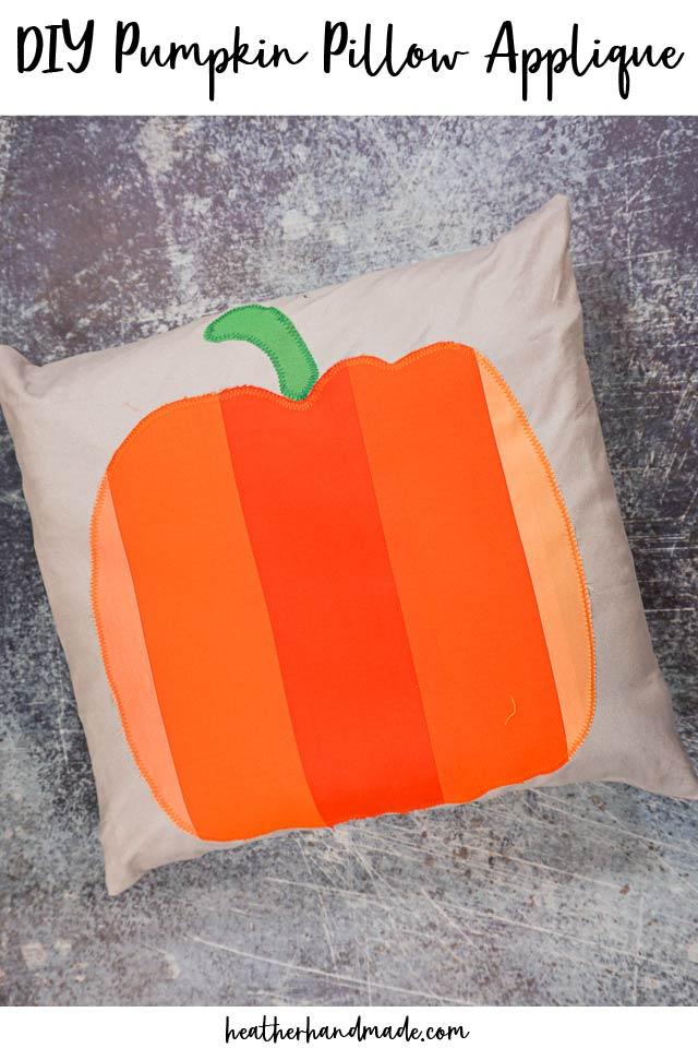 DIY Pumpkin Pillow Applique