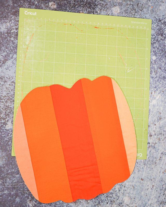 peel pumpkin off of mat