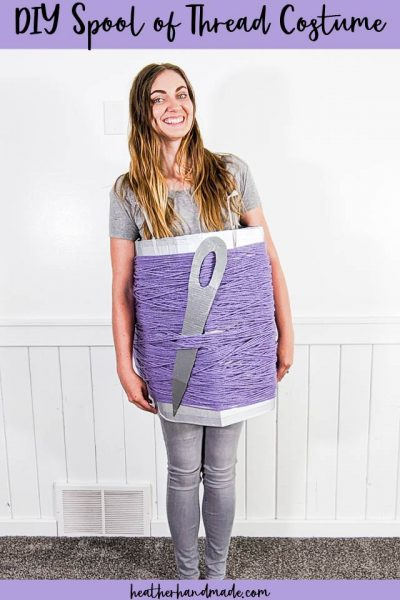 diy spool of thread costume
