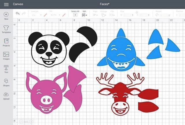 design space animal faces