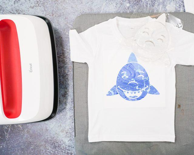 place face on cricut blank t-shirt