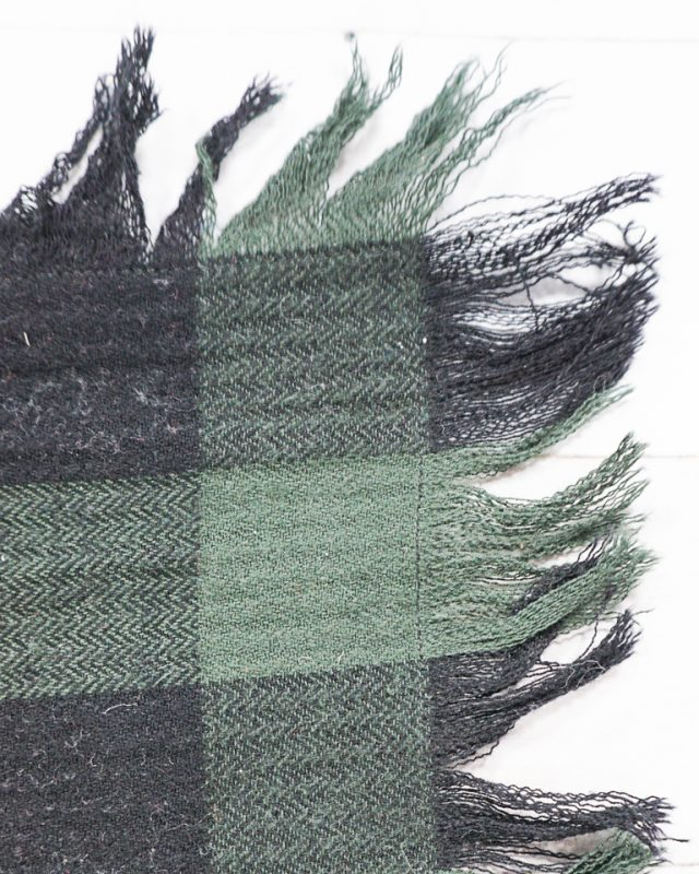 blanket scarf frayed edge