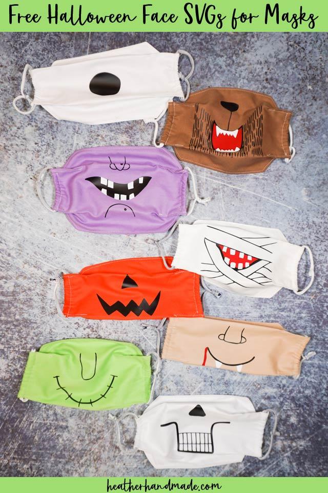 Free Halloween Face Svg Cut Files For Masks Heather Handmade