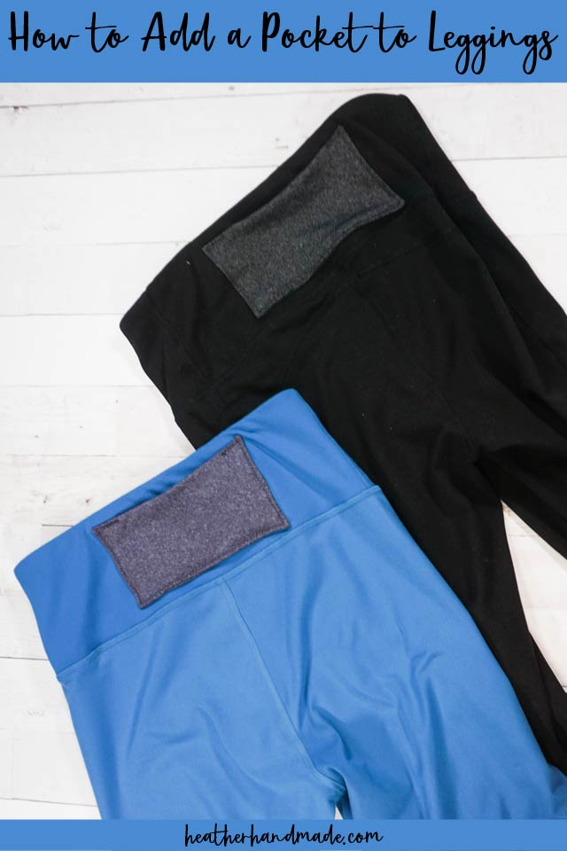 how to add pocket to leggings