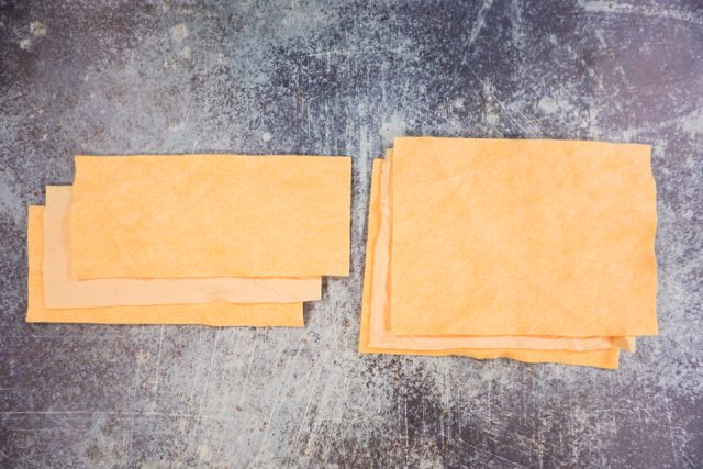cut felt into rectangles