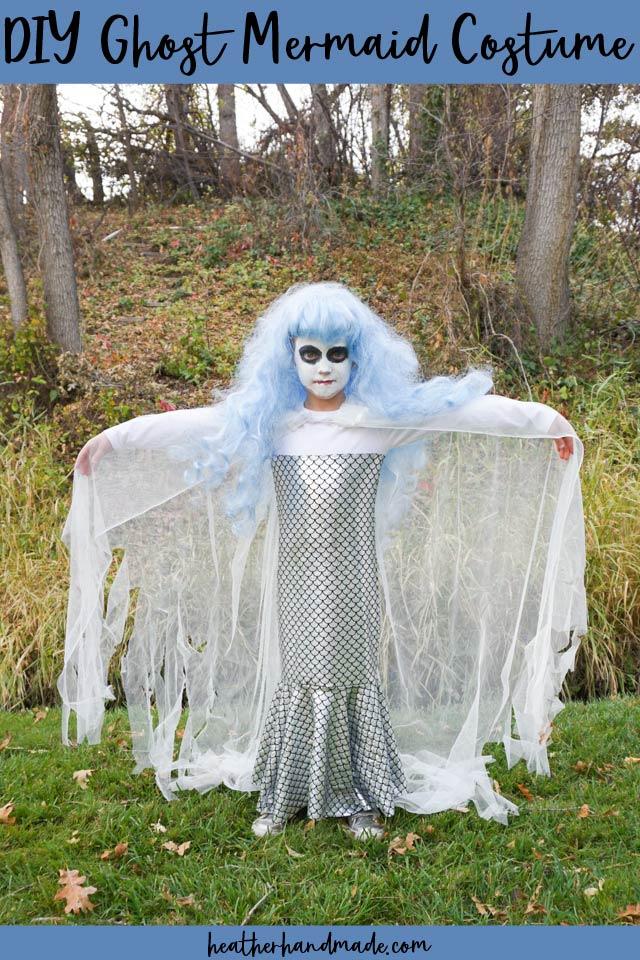 diy ghost mermaid costume