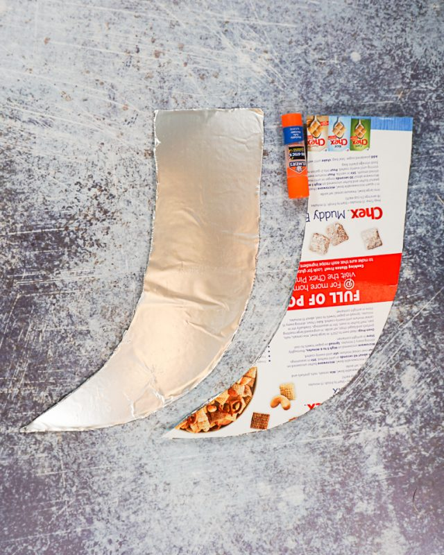cover cardboard with aluminum foil
