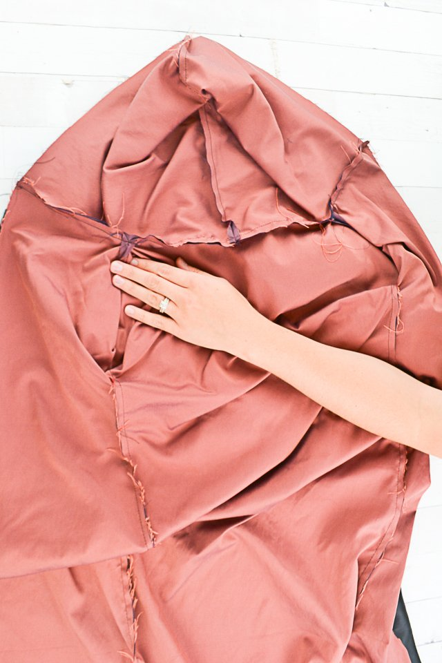 sew lining and add hood