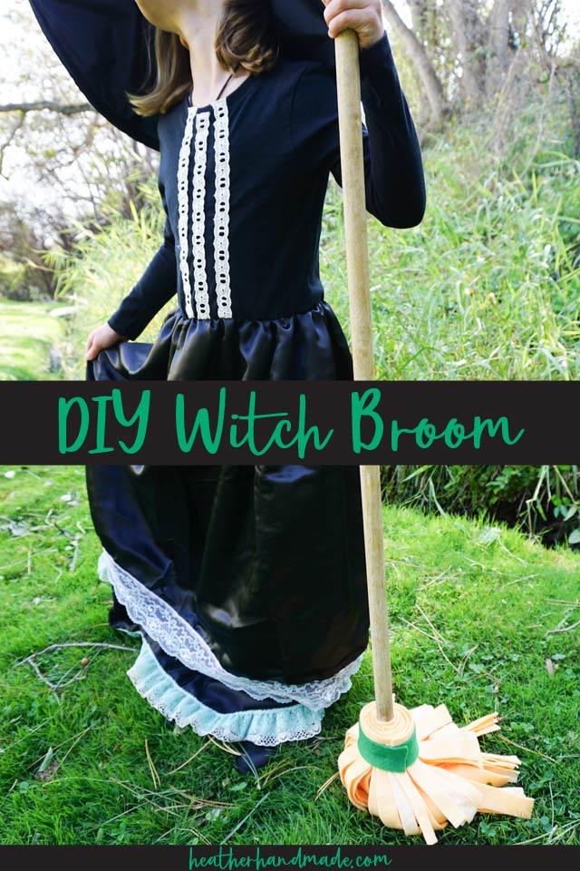 diy witch broom