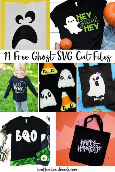 11 Free Ghost SVG Cut Files for Halloween
