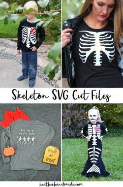 6 Skeleton SVG Cut Files