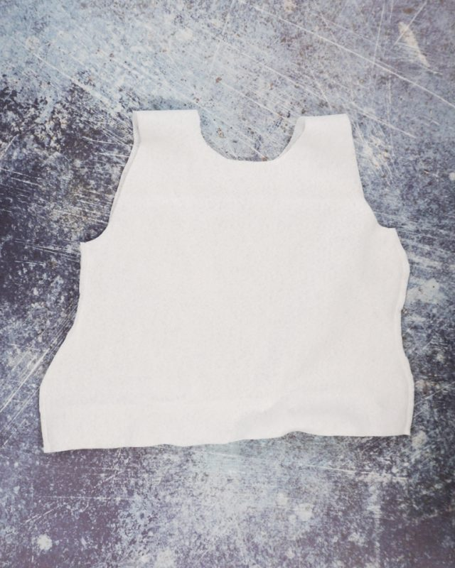 sew sides of frosting tank top