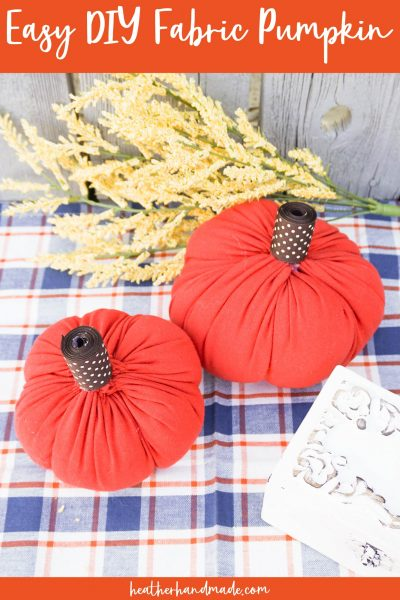 easy diy fabric pumpkins