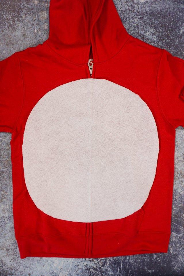 cute out white felt circle