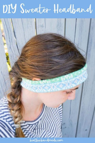diy sweater headband