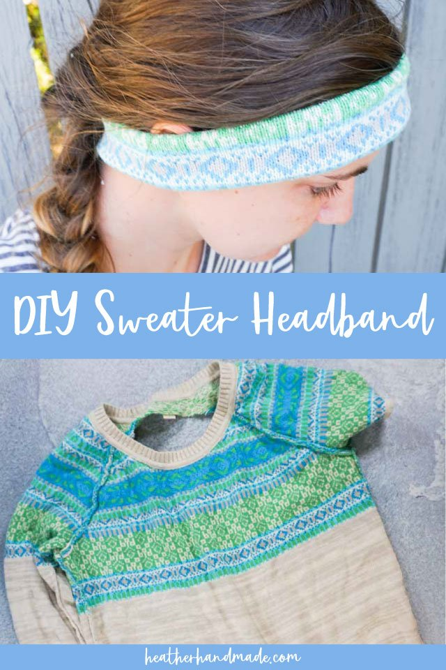 diy sweater headband