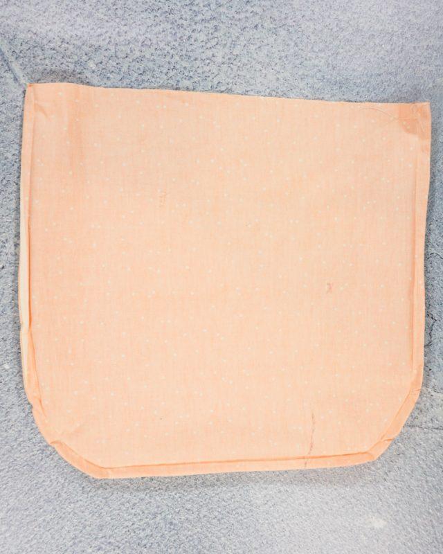 sew around edge 3/8 inch