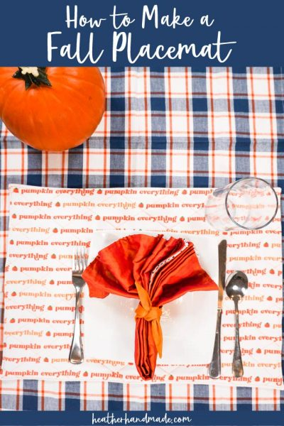 how to make a fall placemat