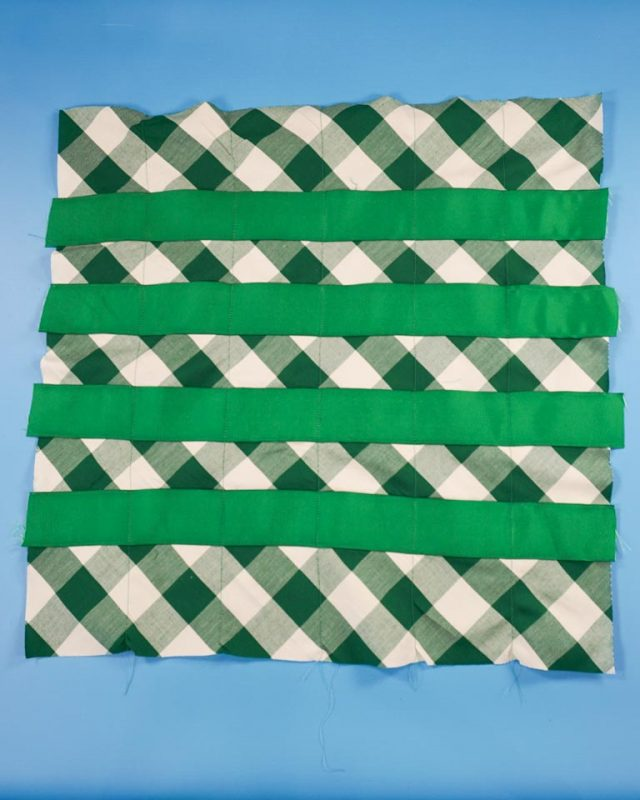sew vertical lines
