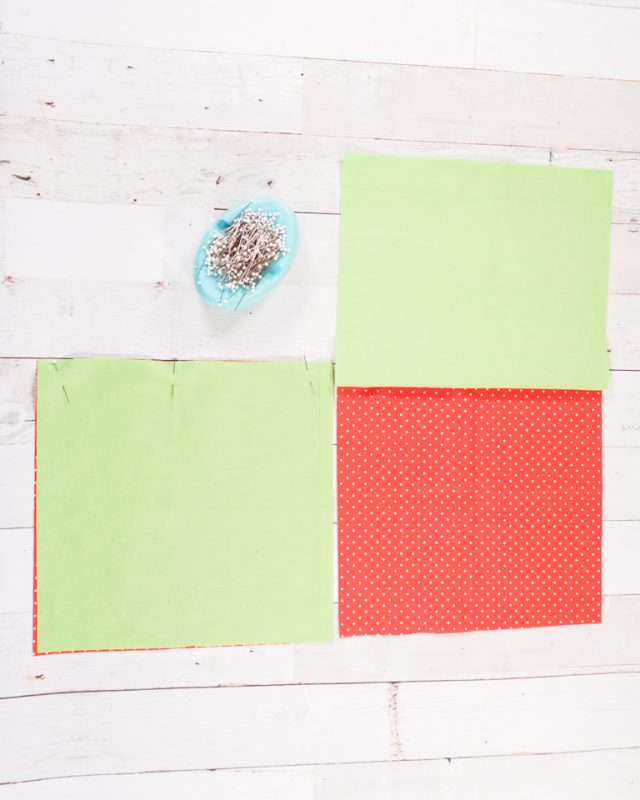 match top edges pin and sew