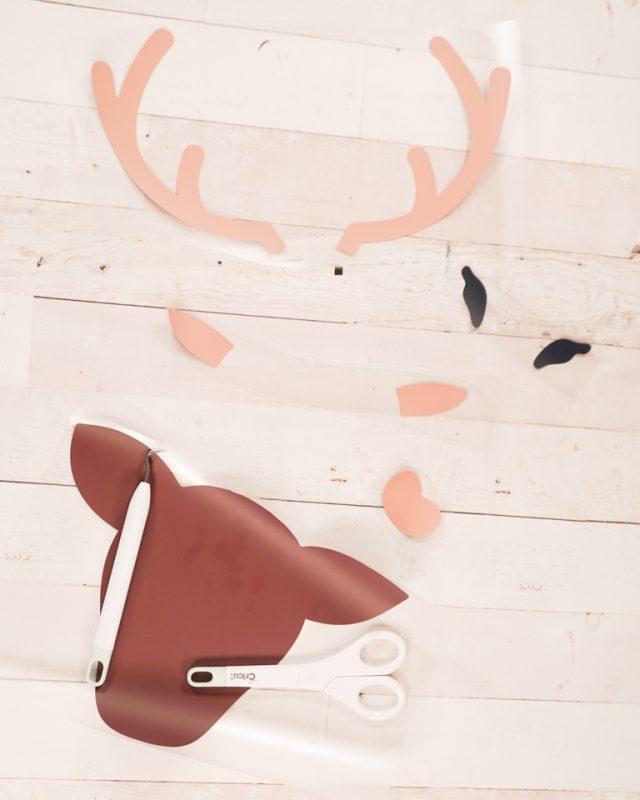 reindeer face from iron on vinyl