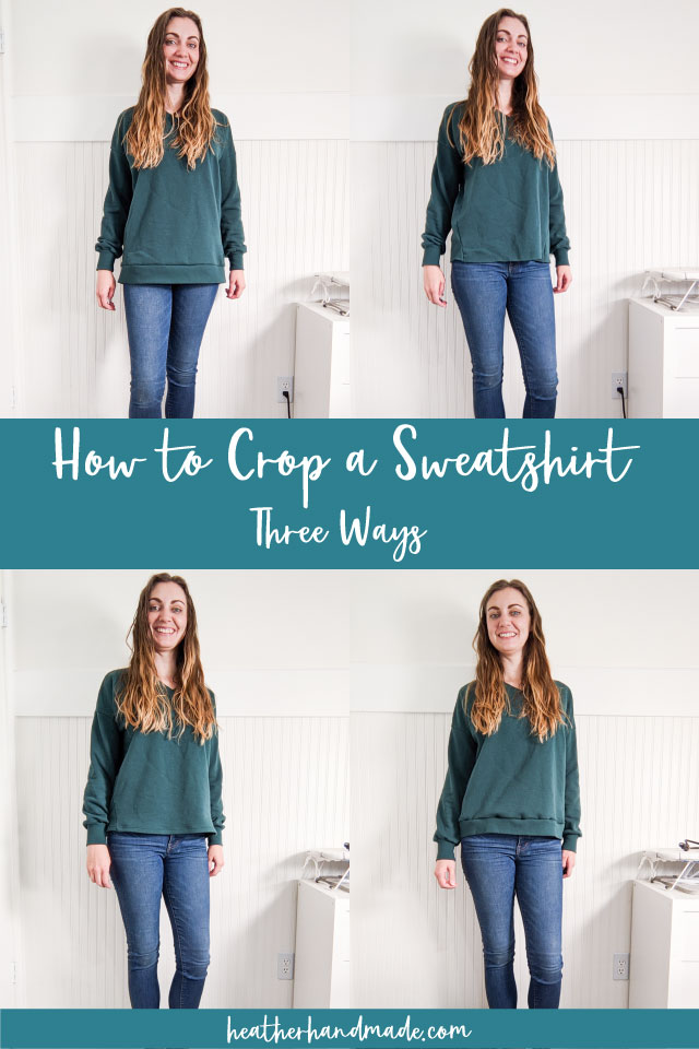 how to crop a sweatshirt